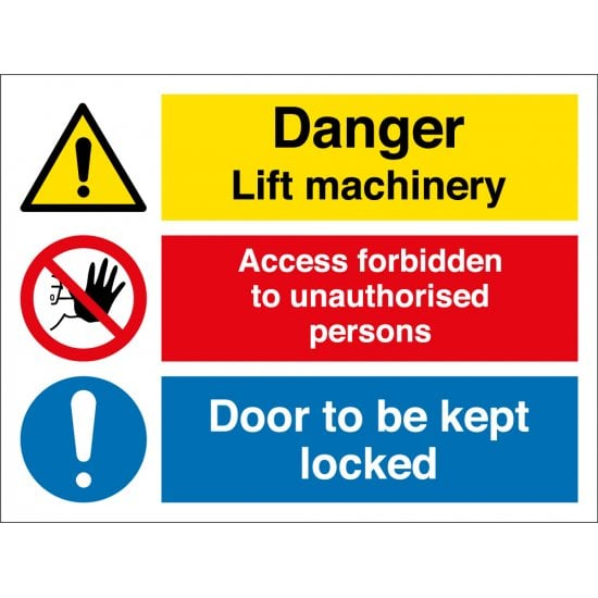 Lift Machine Room Signs