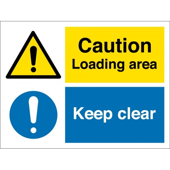 Loading Area Keep Clear Signs