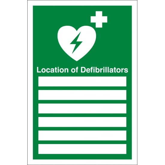 Location Of Defibrillators Signs