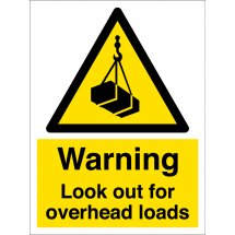 Look Out For Overhead Loads Signs