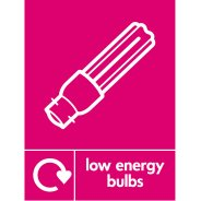 Low Energy Bulbs Waste Recycling Signs