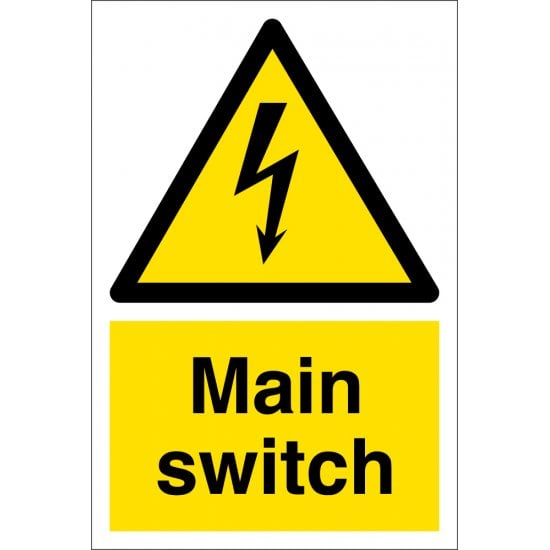 Main Switch Signs