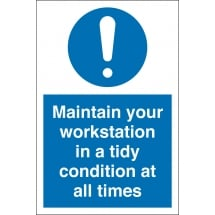 Maintain Your Workstation Signs