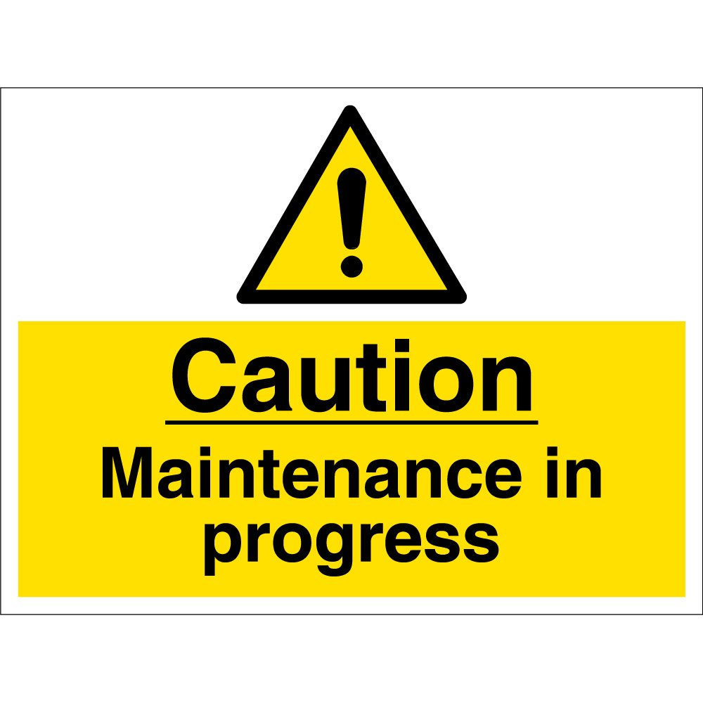 maintenance in progress signs from key signs uk