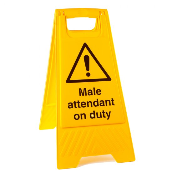 Male Attendant On Duty Floor Stands