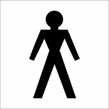 Male Toilet Symbol Signs