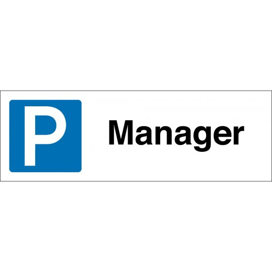 Manager Parking Bay Signs