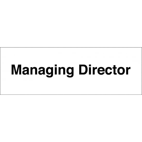 Managing Director Signs