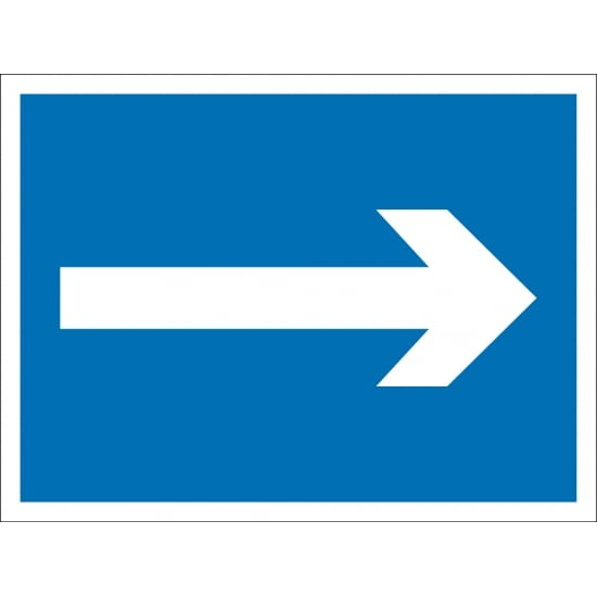 Mandatory Directional Arrow Signs