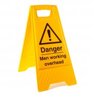 Men Working Overhead Floor Stands