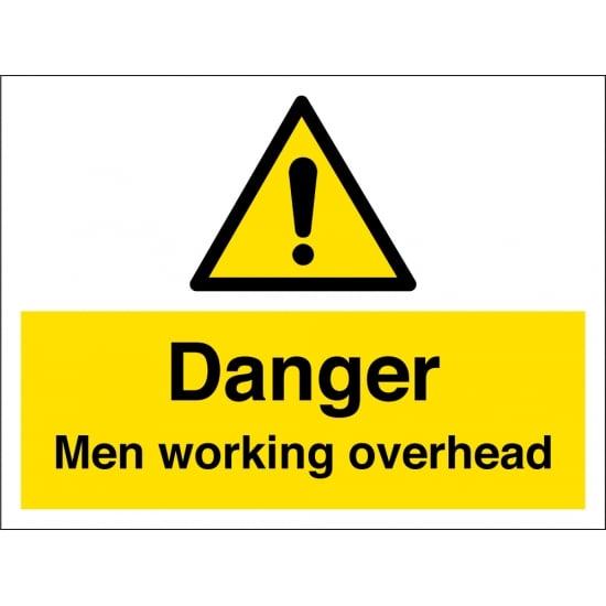 Men Working Overhead Signs