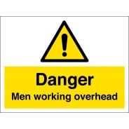 Men Working Overhead Signs