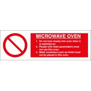 Microwave Oven Signs