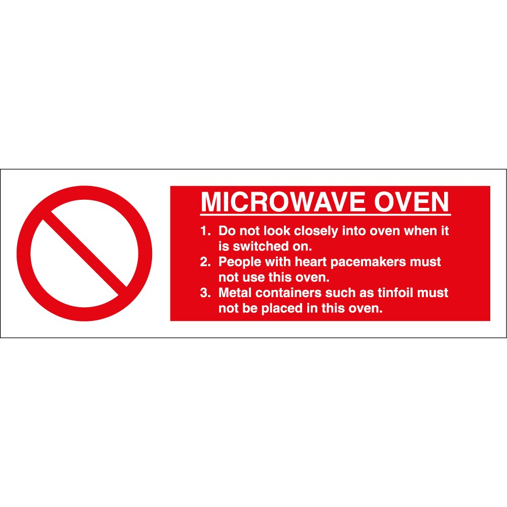 Microwave Oven Signs From Key Signs Uk