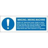 Mincing Mixing Machine Signs