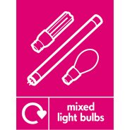 Mixed Light Bulbs Waste Recycling Signs