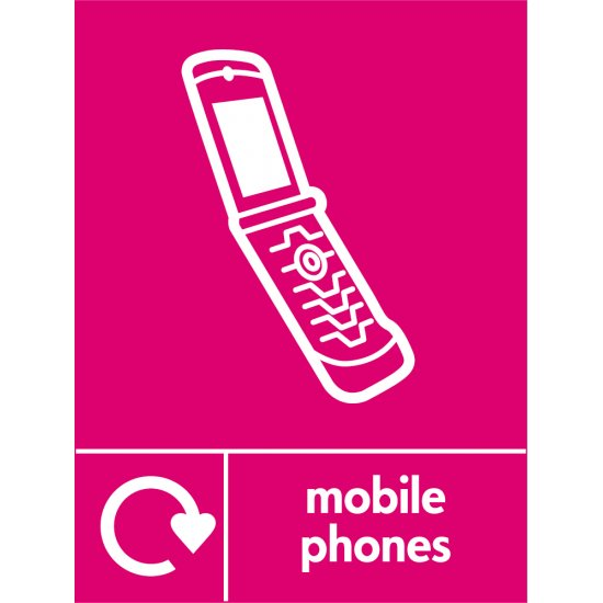 Mobile Phones Waste Recycling Signs