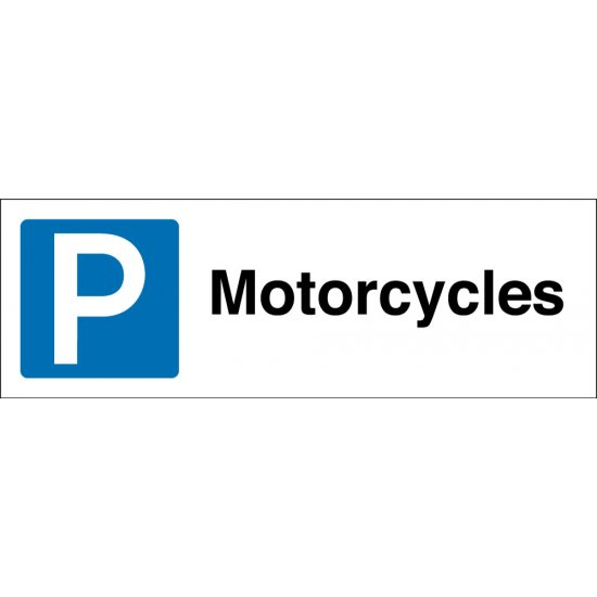 Motorcycles Parking Signs
