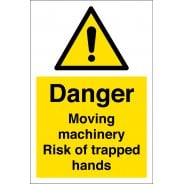 Moving Machinery Risk Of Trapped Hands Signs