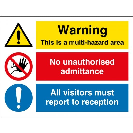 Multi Hazard Area Signs