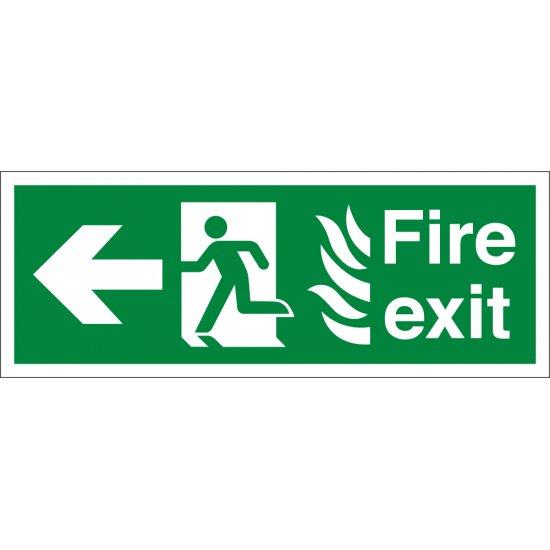 NHS Fire Exit Arrow Left Signs