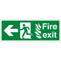 NHS Fire Exit Arrow Left Signs