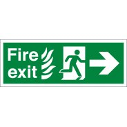 NHS Fire Exit Arrow Right Signs