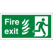 NHS Fire Exit Running Man Right Signs