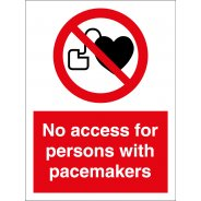 No Access For Persons With Pacemakers Signs