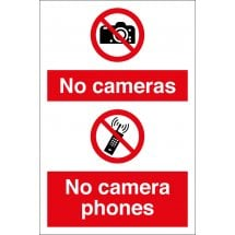 No Cameras No Camera Phone Signs