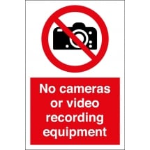 No Cameras or Video Recording Equipment Signs