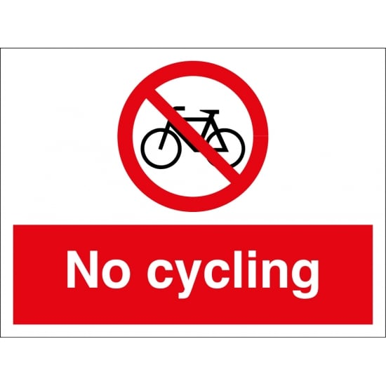 No Cycling Signs