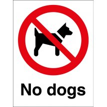 No Dogs Signs