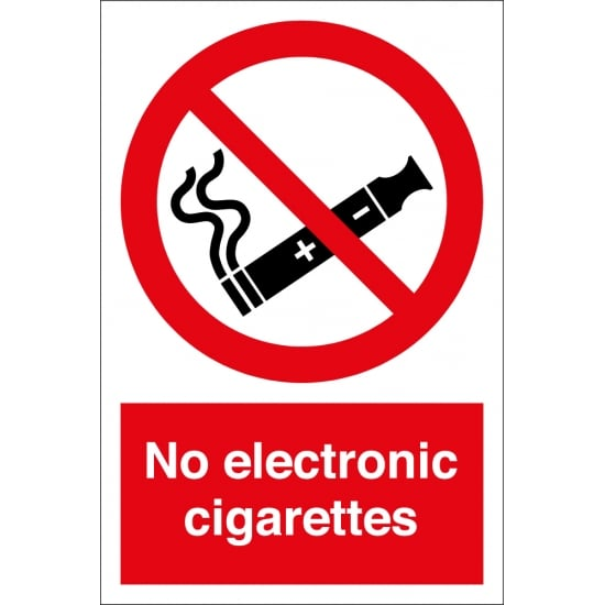No Electronic Cigarettes Signs