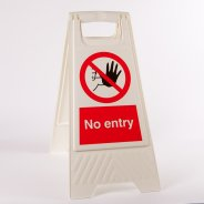 No Entry Floor Stands