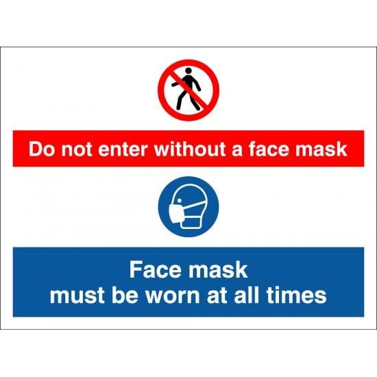 No Face Mask No Entry Signs