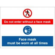 No Face Mask No Entry Signs
