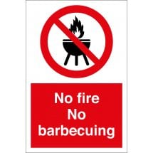 No Fire No Barbecuing Signs