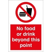 No Food Or Drink Beyond This Point Signs