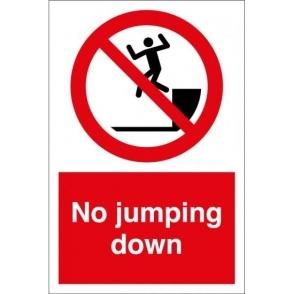 No Jumping Down Signs
