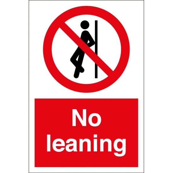No Leaning Signs