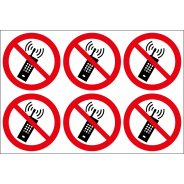 No Mobile Phone Labels