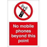 No Mobile Phones Beyond This Point Signs