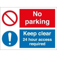 No Parking 24 Hour Access Required Signs