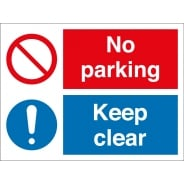 No Parking Keep Clear Signs