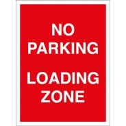 No Parking Loading Zone Signs