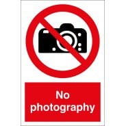 No Photography Signs