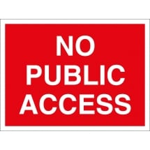 No Public Access Signs