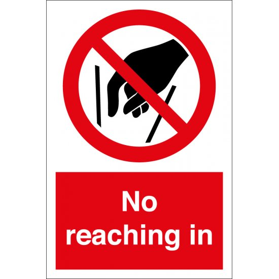 No Reaching In Signs