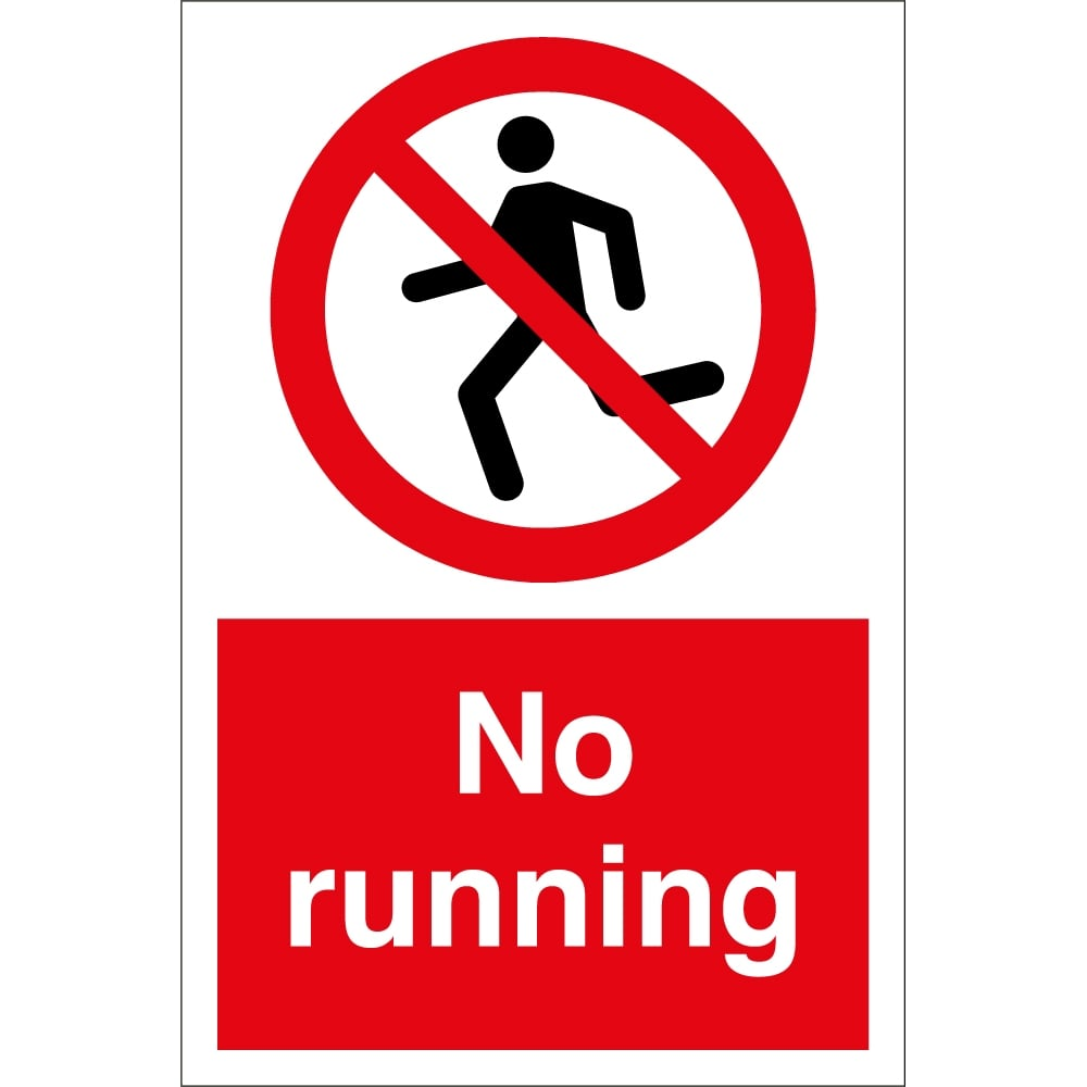 no running signs from key signs uk
